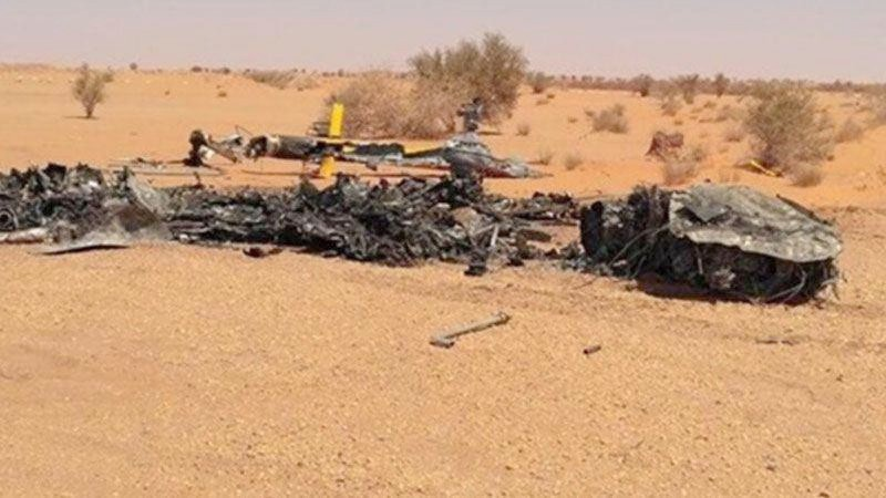 LNA General tells how a helicopter burnt in the Libyan Al Jufra municipality